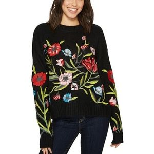Romeo & Juliet Couture Floral Embroidered Sweater